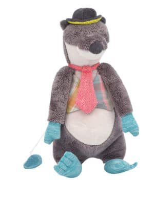 Moulin Roty musical otter soft toys baby toys