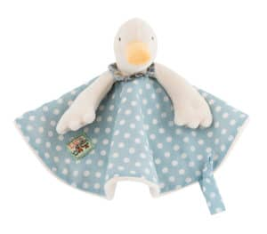 Jeanne the duck comforter, Moulin Roty, La Grande Famille, baby toys, comforters
