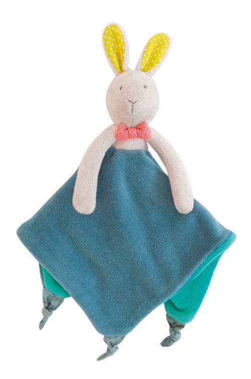 Mademoiselle et Ribambelle , rabbit comforter, baby toys, Moulin Roty, Mademoiselle rabbit comforter