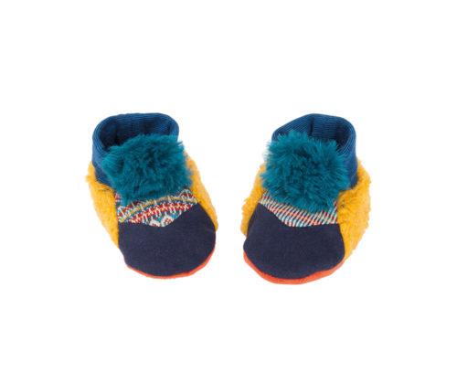 blue baby slippers - zig et zag - Moulin Roty toys Australia
