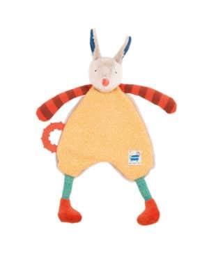 Zig et Zag yellow horse comforter - soft toys, baby toy comforter, baby toys, Moulin Roty Australia