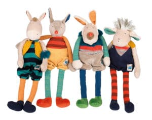 zig et zag characters - Moulin Roty soft toys