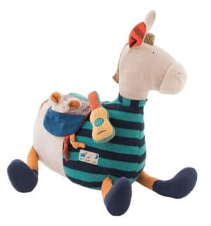 baby toys, soft toys, activity toys, baby sensory development, zig et zag, horse, moulin roty toys australia