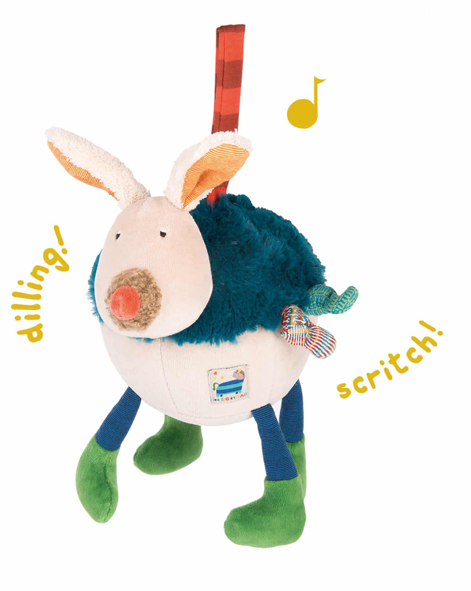 activity dog, baby toys, musical toys, soft toys, zig et zag, moulin roty toys australia