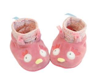 Mademoiselle owl baby slippers, owl baby slippers, baby slippers Moulin Roty, Moulin Roty baby slippers
