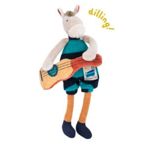 mini horse rattle - baby toys, rattles, soft toys, les zig et zag, Moulin Roty toys Australia