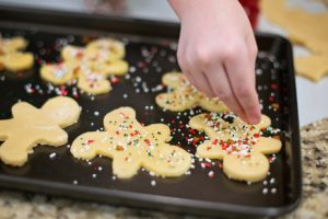 baking gingerbread men - a great winter activity