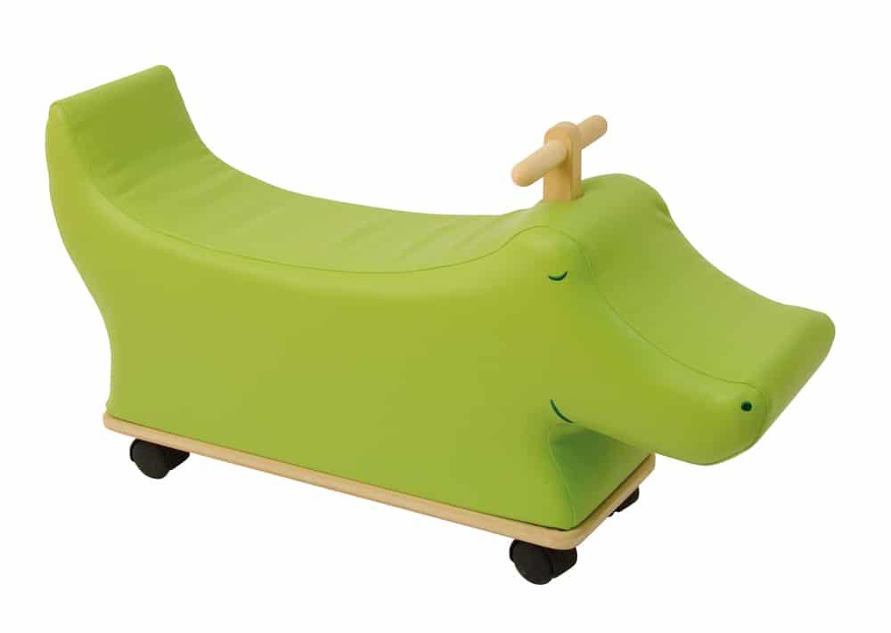 loupiots ride on crocodile
