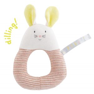 petit dodos mouse ring rattle