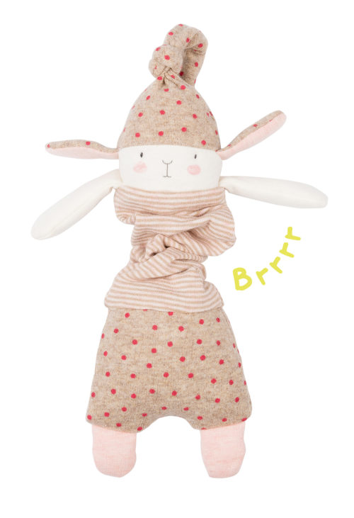 soft toy jittery rabbit - petit dodos