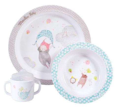 baby dish set in petit dodos range