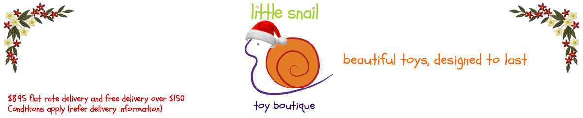 Merry Christmas from Little Snail - children's toys for Christmas