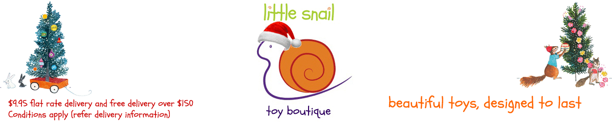 Little Snail Christmas toys banner 2017 - children's toy shop