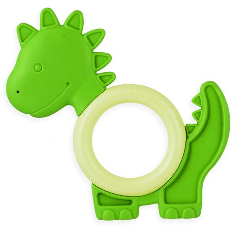 GB-MN-ET-Elephant BLU My Natutral Eco Teether Dinosaur Green