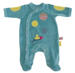 pachats pyjamas for boy or girl with coloured spots - moulin roty 660 271,2,3