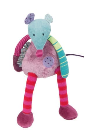 les jolis pas beaux mouse soft toy - colourful mouse in variety of materials and colours
