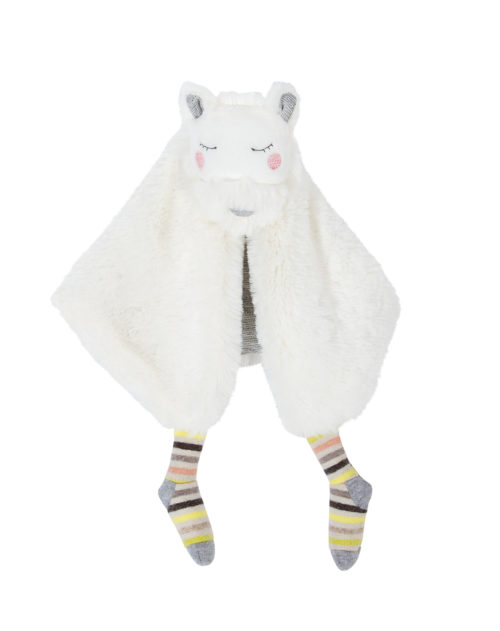 petits dodos dog comforter made from soft white velour and jersey
